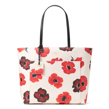 Web Exclusive! Kate Spade Hyde Lane Poppies Riley Tote Rose Dew Multi