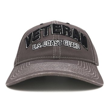 Black Ink Men's Veteran Coast Guard Classic Hat