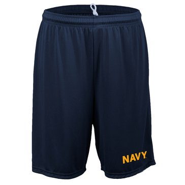 Soffe Men's Navy Block Mini Mesh Shorts