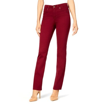 Style & Co Rail Tummy Straight Deni Jean in Scarlet Wine