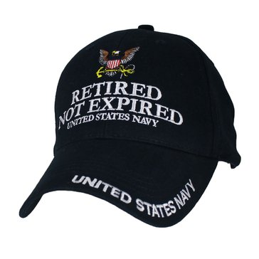 Eagle Crest Men's Extreme Embroidered Retired Not Expired U.S.N Cap