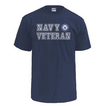 Soffe Men's Navy Veteran Short Sleeve Tee With Seal