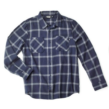 Vans Men's Long Sleeve Dispatched Plaid Heavy Flannel Shirt