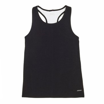 Jockey Big Girls' Racerback Tank, Deep Black