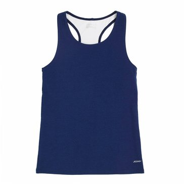 Jockey Big Girls' Racerback Tank, Midnight