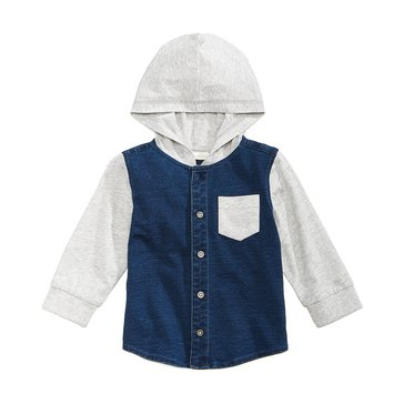 First Impressions Baby Boys' Hooded Jersey Shirt