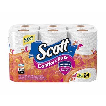 Scott Extra Soft Bath Tissue, 12 Double Rolls