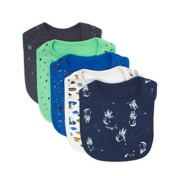 Rosie Pope Baby Boys' 5-Pack Bib Set