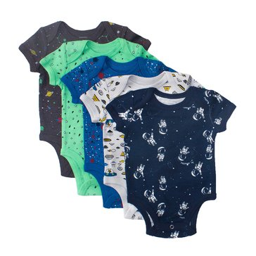 Rosie Pope Baby Boys' 5-Pack Bodysuit Set