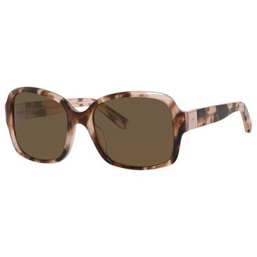 Kate Spade Women's Annora Polarized Sunglasses, Pink Havana 54mm