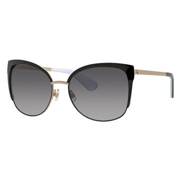 Kate Spade Women's Genices Black/Gold Sunglasses 57mm