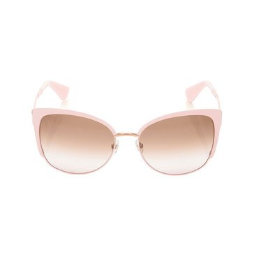 Kate Spade Women's Genices Pink Gold Sunglasses 57mm