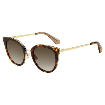 Kate Spade Women's Jazzlyn Sunglasses, Havana Gold 51mm