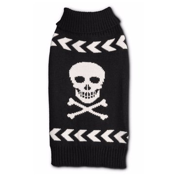 Black Arrow Chevron Skull Sweater, XX-Small