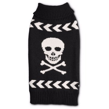 Black Arrow Chevron Skull Sweater, X-Small