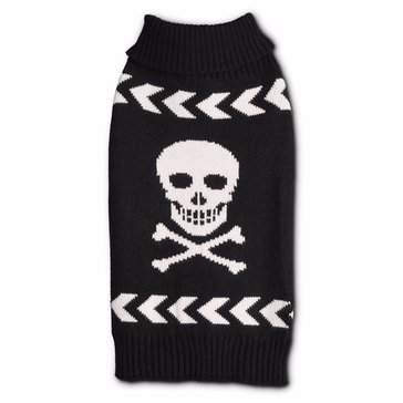 Black Arrow Chevron Skull Sweater, Small