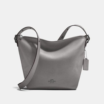 Coach Natural Leather Dufflette Heather Grey