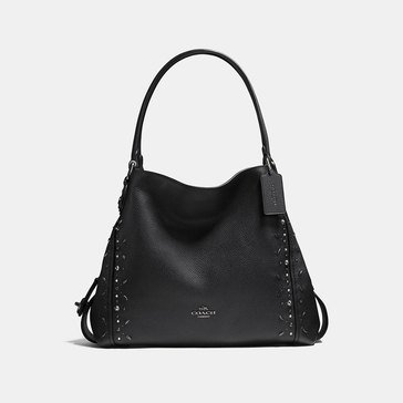 Coach Prairie Rivets Mixed Edie 31 Hobo Black