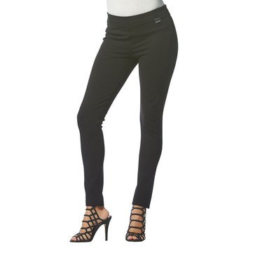 Karl Lagerfeld Ponte Legging With Hardware Logo in Black