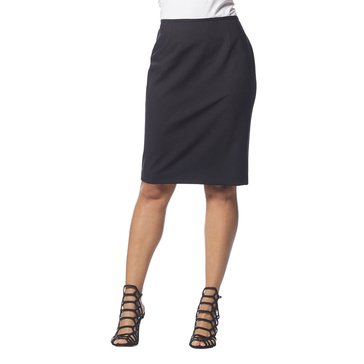 Karl Lagerfeld Washable Wool Skirt in Black