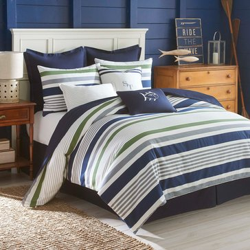 Southern Tide Sullivan Stripe 4-Piece Comforter Set - Full