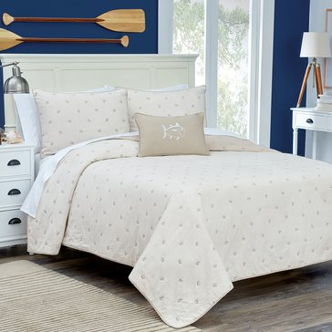 Southern Tide Skipjack Quilt, Stone - Full/Queen