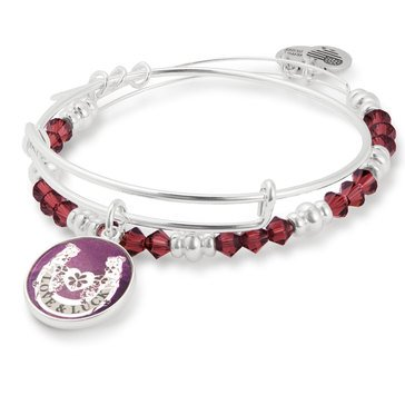 Alex And Ani Art Infusion Fortune's Favor Bangle Set, Silver Tone