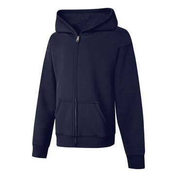 Hanes Big Girls' Fleece Zip Hoodie, Navy XLarge