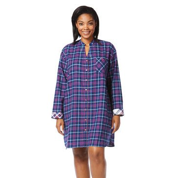 Tommy Hilfiger Plus Freemont Sleepshirt Catalino Plaid Navy
