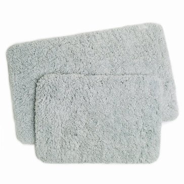 2-Piece Shag Memory Foam Bath Rug, Grey