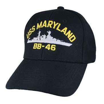 Eagle Crest Men's USS Maryland BB-46 Historic Carrier Cap With Flag