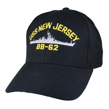 Eagle Crest Men's USS New Jersey BB-62 Historic Carrier Cap With Flag