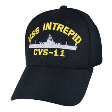 Eagle Crest Men's USS Intrepid CVS-11 Decommissioned Carrier Cap With Flag