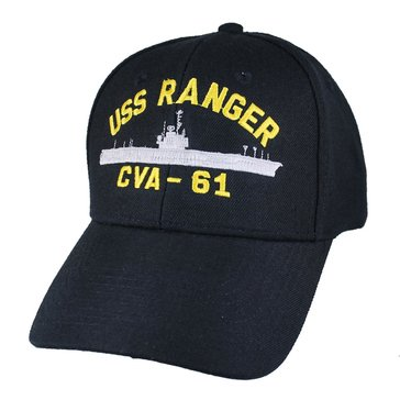 Eagle Crest Men's USS Ranger CVA-61 Decommissioned Cap With Flag