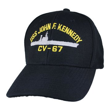 Eagle Crest Men's USS John F. Kennedy CV-67 Decommissioned Carrier Cap With Flag