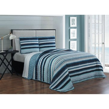 Avondale Manor Montara 7-Piece Quilt Set, Blue - Full/Queen