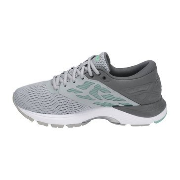 Asics Gel Flux 5 Women's Running Shoe - Mid Grey / White / Opal Green