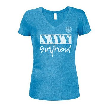 Soffe Women's Navy Girlfriend V-Neck Short Sleeve Tee Extended Sizes