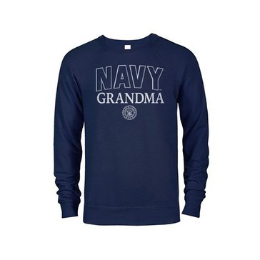 Soffe Women's Navy Grandma French Terry Crew Sweatshirt