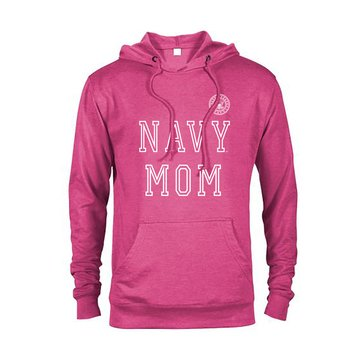 Soffe Women's Navy Mom French Terry Hoodie