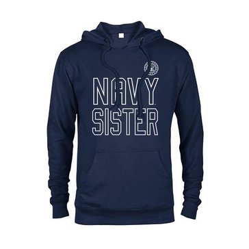 Soffe Women's Navy Sister French Terry Hooded