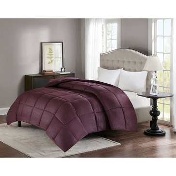 Premier Comfort Down Alternative Seersucker Comforter, Wine - Full/Queen