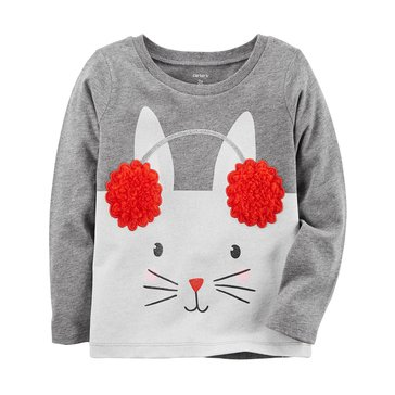 Carter's Baby Girls' Long Sleeve Tee, Bunny