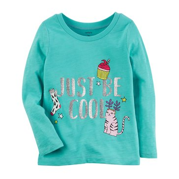 Carter's Baby Girls' Long Sleeve Tee, Be Cool