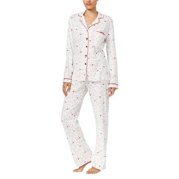 Charter Club Notch Collar PJ Ivory Cardinal