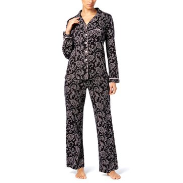 Charter Club Notch Collar PJ Banadan Paisley