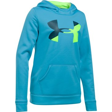 Under Armour Big Girls' Fleece Big Logo Hoodie, Blue