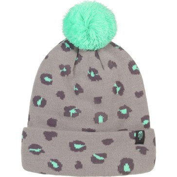 The North Face Big Girls' Ski Tuke Retro Hat, Silver