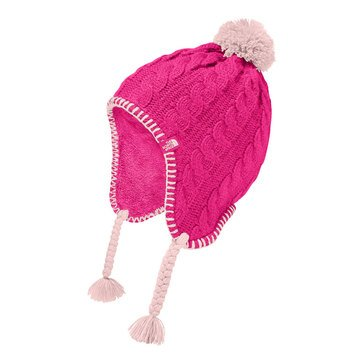 The North Face Big Girls' Fuzzy Earflap Beanie, Petticoat Pink/ Purdy Pink