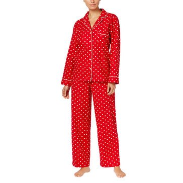 CC NOV FLANNEL NOTCH PJ  CANDY RED